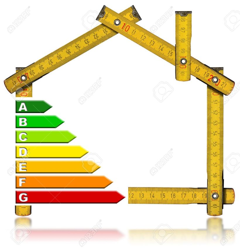 17291397-Wooden-meter-tool-forming-a-house-with-certification-electric-output--Stock-Photo